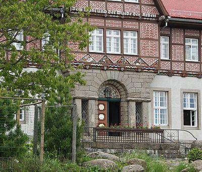 Eingangsportal Schierke Rathaus