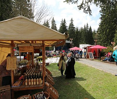 Mittelaltermarkt zur Walpurgis in Schierke