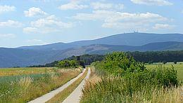 Brockensicht vom Harzvorland