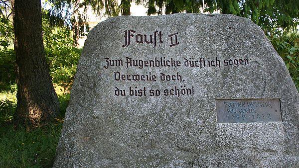 Stein im Kurpark Schierke