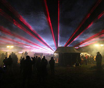 Lasershow zur Walpurgis in Schierke