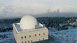 Das Brockenhausmuseum in einer Luftbildaufnahme