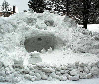 Schneemonster im Kurpark Schierke