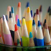 Bleistifte in einem Glas