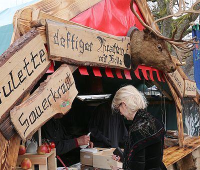 Essensstand zur Walpurgis in Schierke